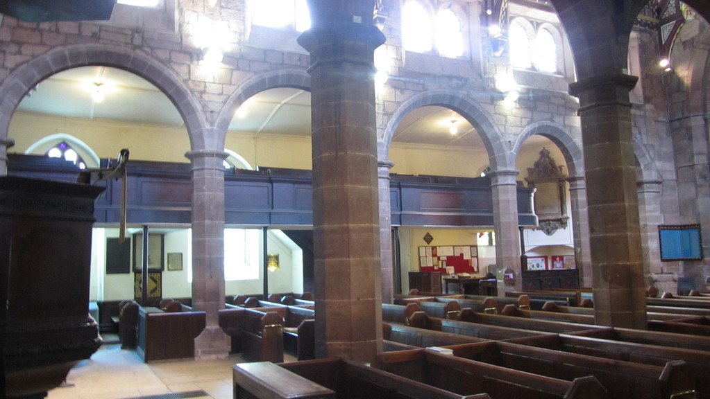 View south from the pulpit across the nave