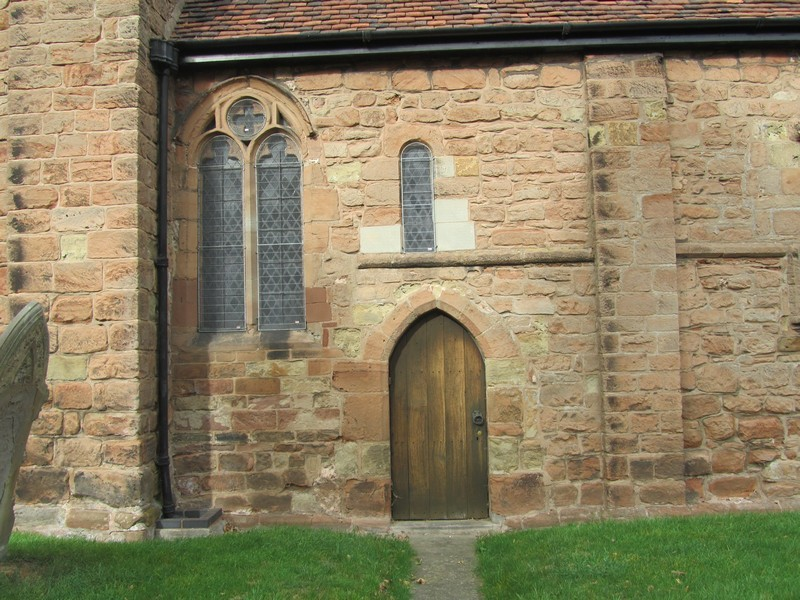 Chancel south side - priest's door
