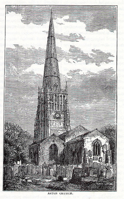 Aston Church c1880 R K Dent 1880 Old & New Birmingham: A History of the Town and its People