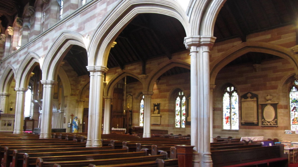 South nave and south aisle arcades