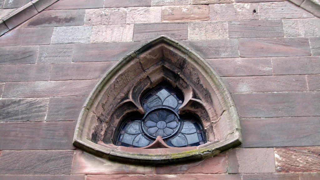 An unusual window in the south transept