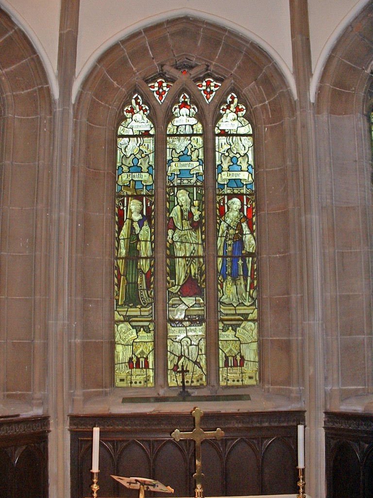 Stained glass - Faith, Hope and Charity