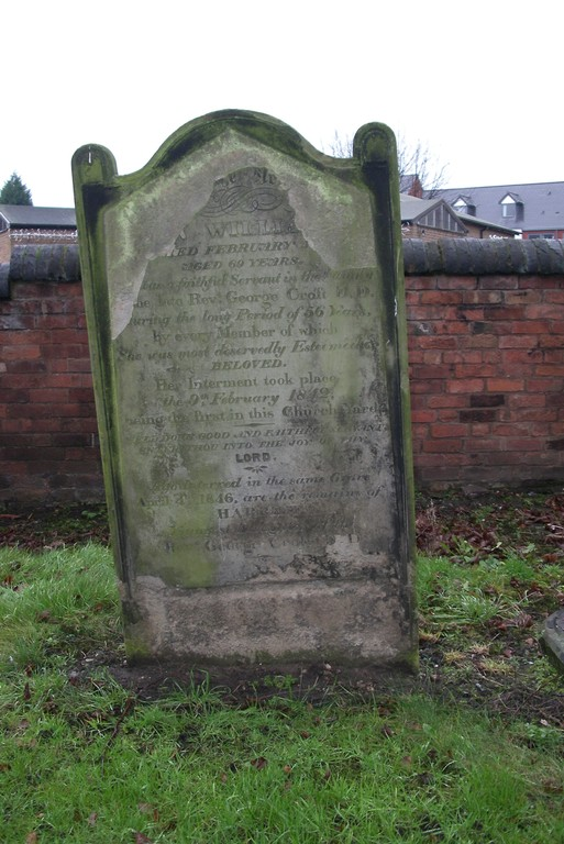 The first grave in the churchyard