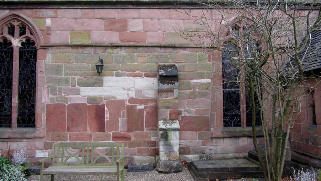 The lower part of the north wall may well be surviving 15th-century work.