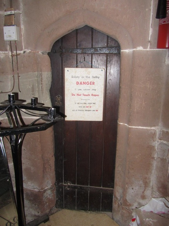 Door to the tower stairs