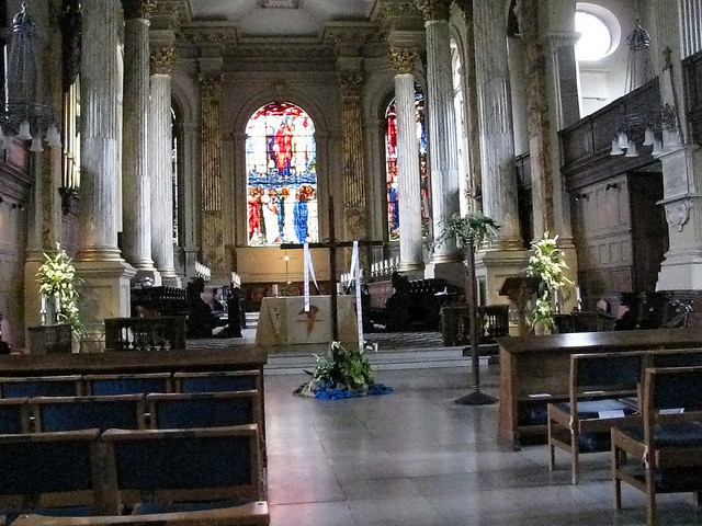 Looking eastwards towards the chancel