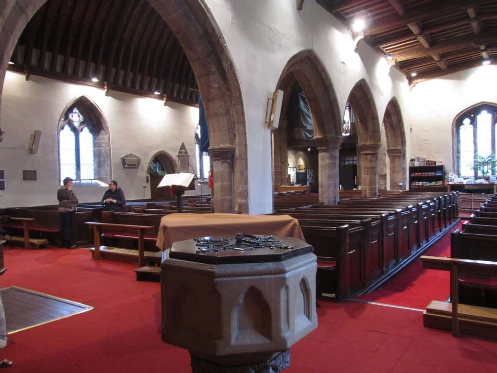 View from the north aisle (east end) towards the chancel