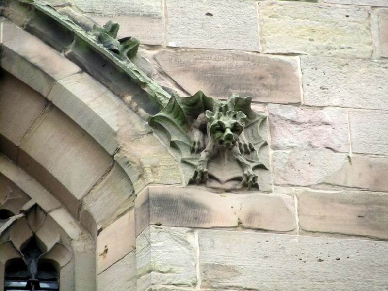 West face of the tower - detail