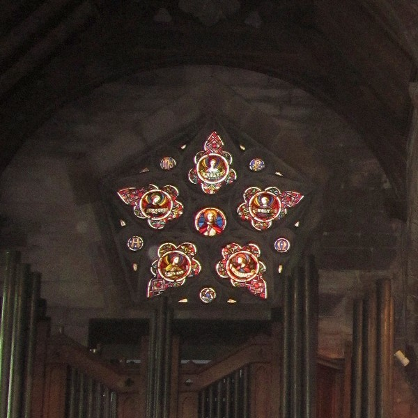The pentagonal window - east window of the north aisle