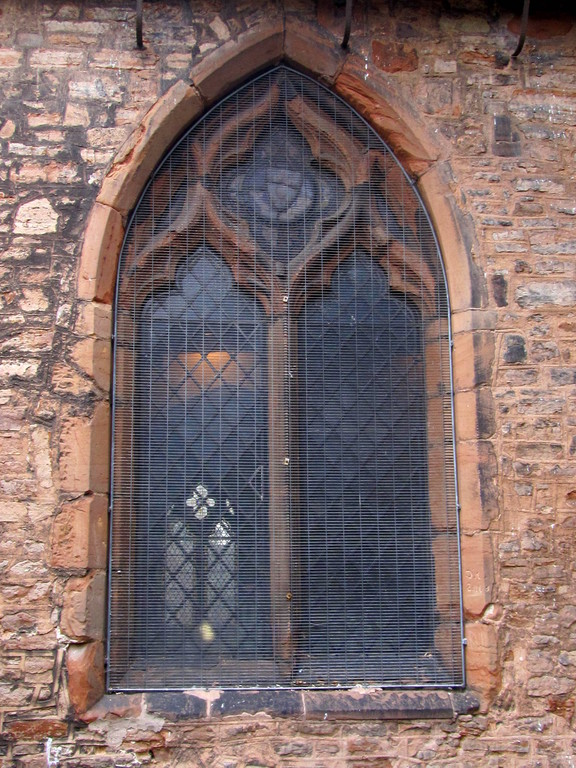 14th-century window, south wall