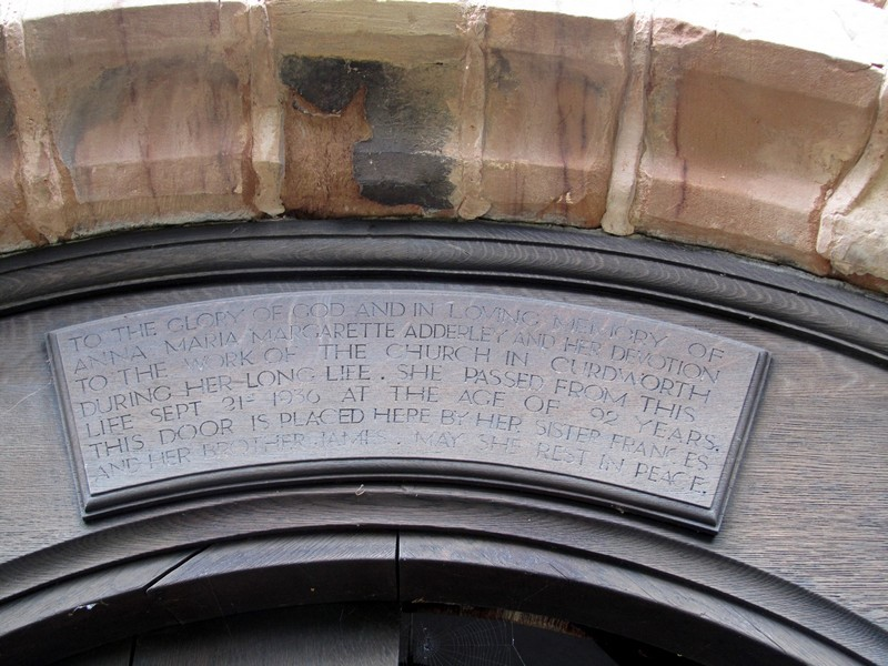 Inscription over the south porch