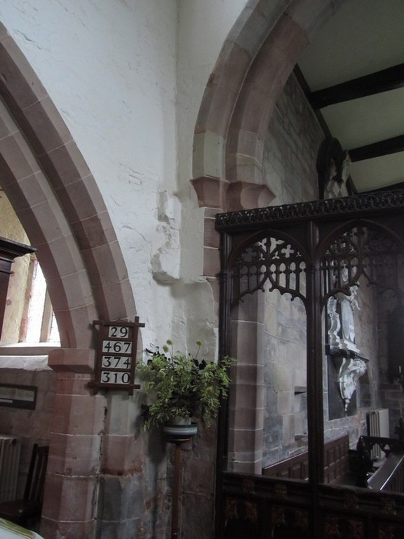 Evidence of the stairs to the rood loft
