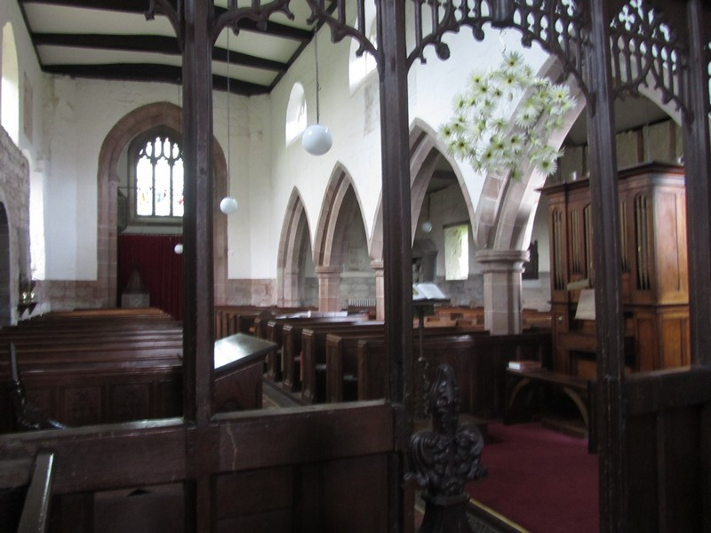 Chancel screen looking west into the nave