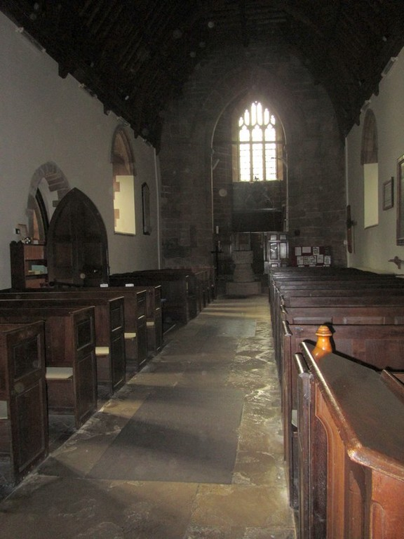 Looking westwards along the nave