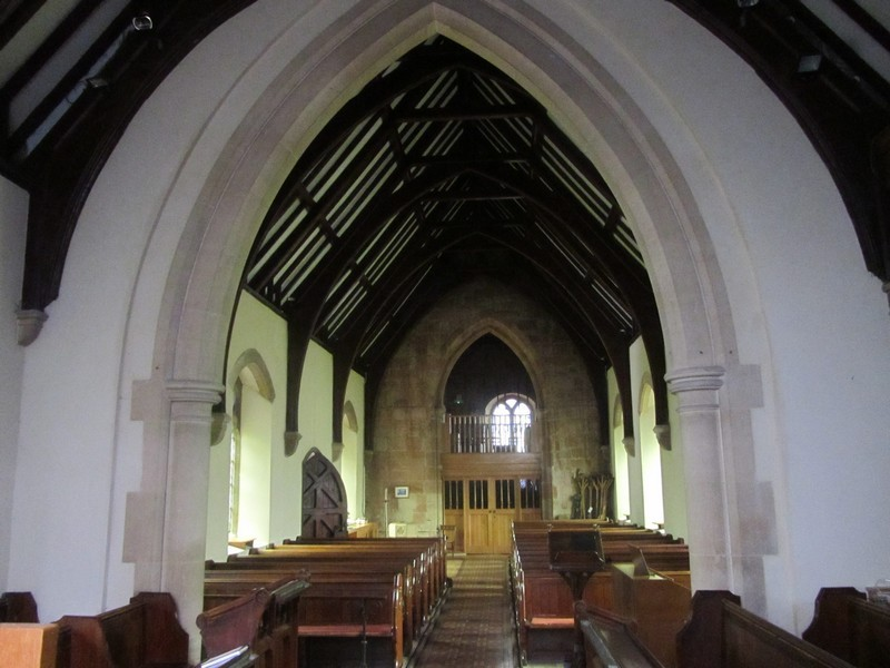 View from the chancel looking west