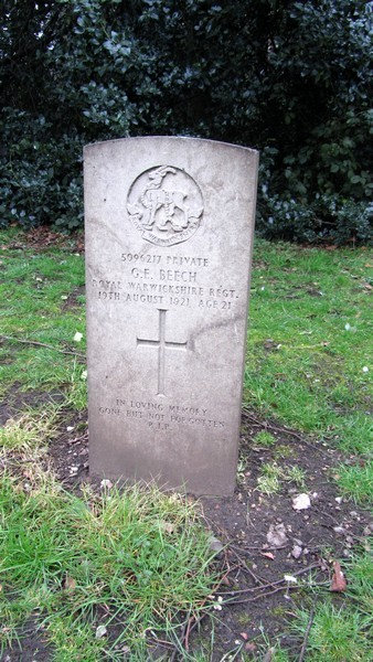 There are a number of military graves in the churchyard.
