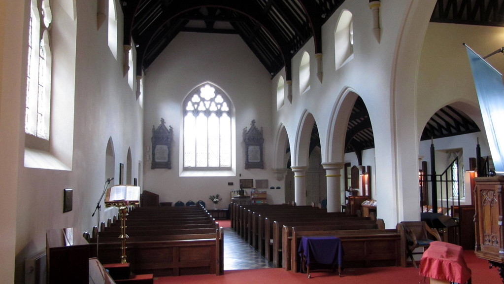 The nave looking westwards