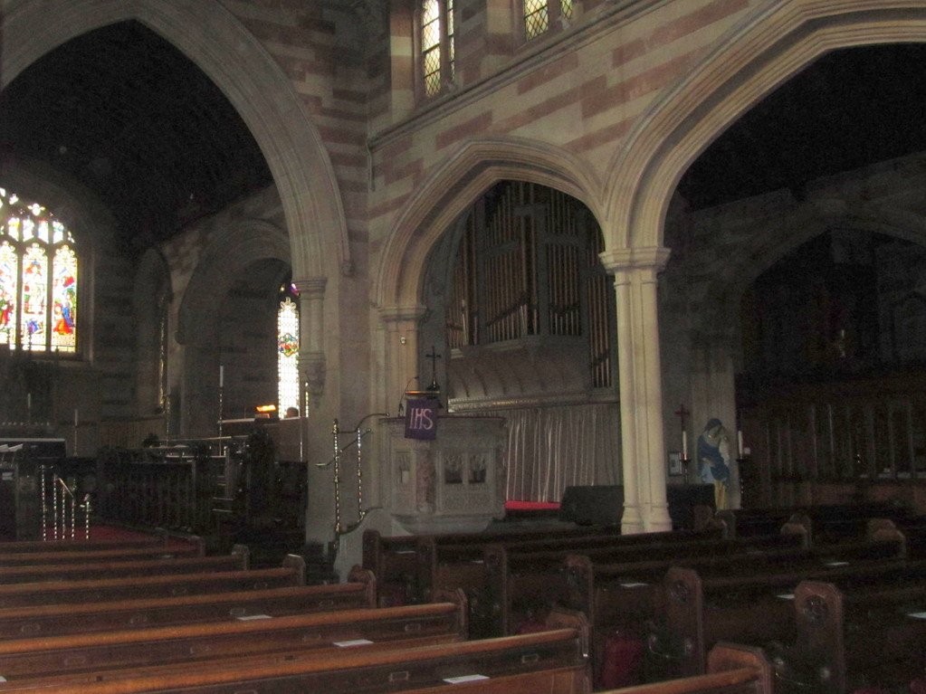 Looking towards the south transept