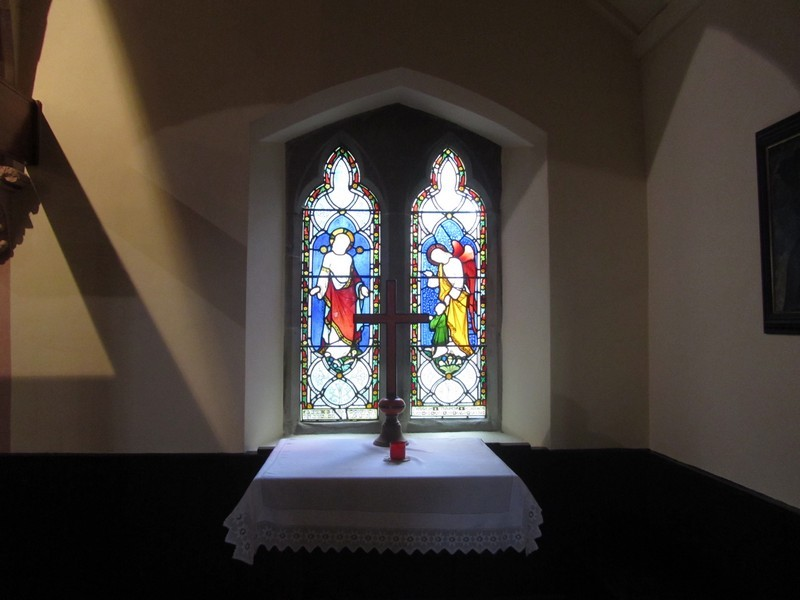 Window in the south-east chapel in window in memory of William Westley Manning 1866