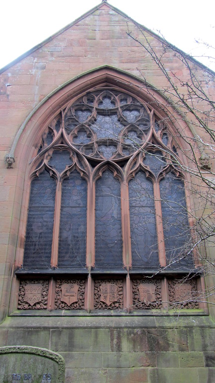 The east window of the chancel