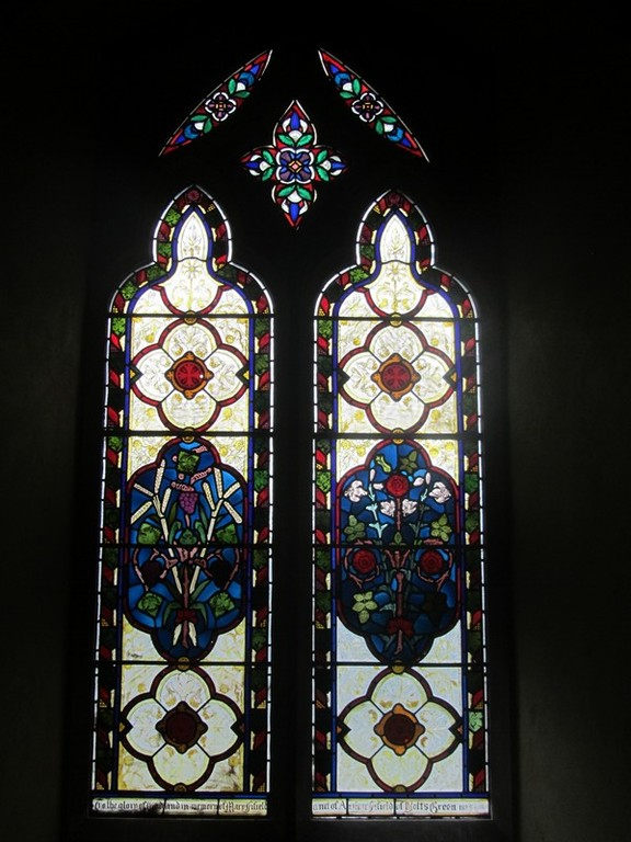Victorian stained glass in the nave
