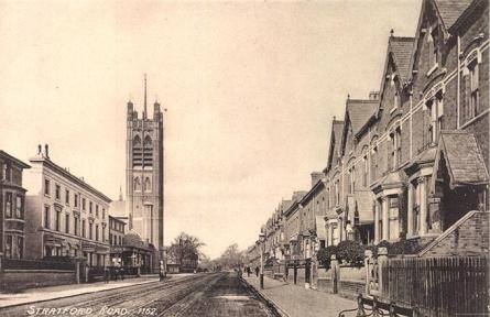 St Agatha's Church viewed from south. Date unknown, probably early 1900s.