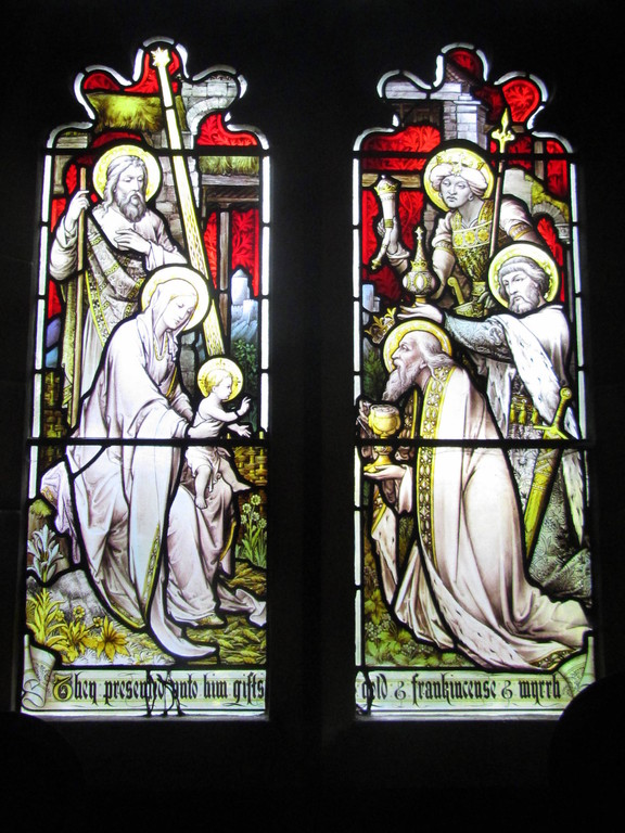 North chapel window - Adoration of the Magi by Hardman's