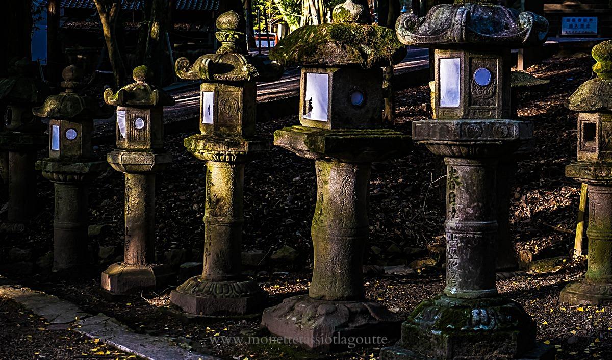 A Nara lanternes de pierre