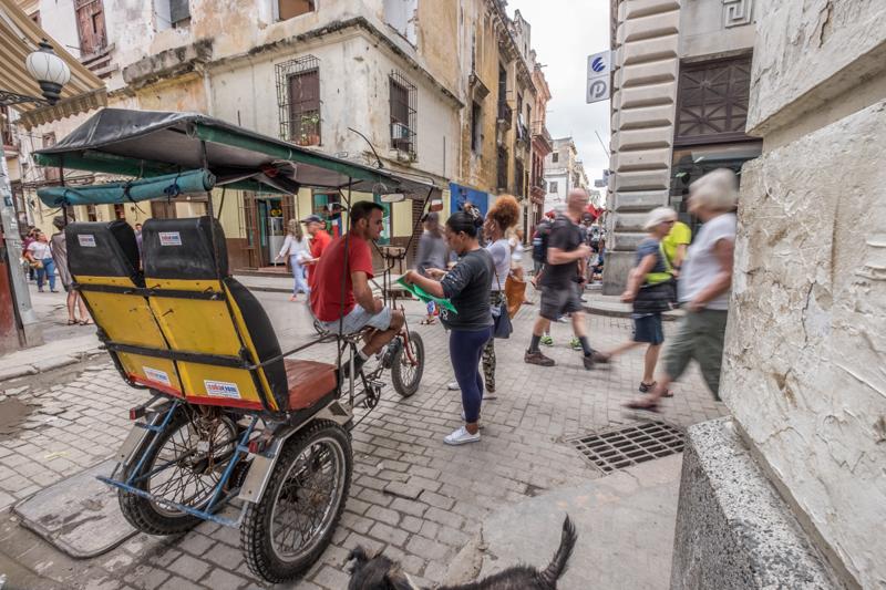 Bici-taxi à La Havane