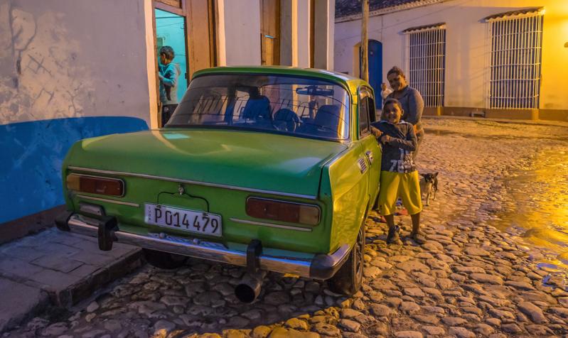 Dans les rues à Trinidad