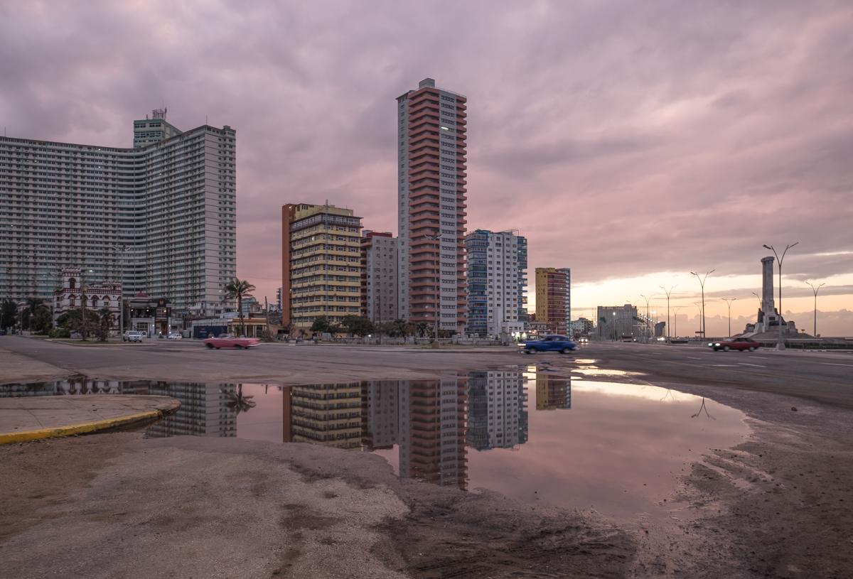 Immeubles sur le front de mer