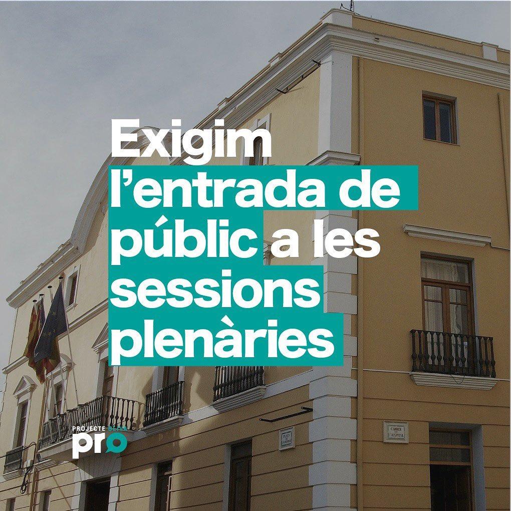 PRO exige la reapertura al público de las sesiones Plenarias
