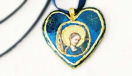 AS 1 - Coeur à la Vierge bleu et or