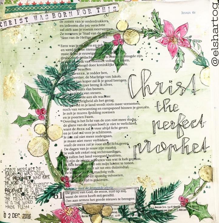 Biblejournaling voorbeeld Jesaja 61:1