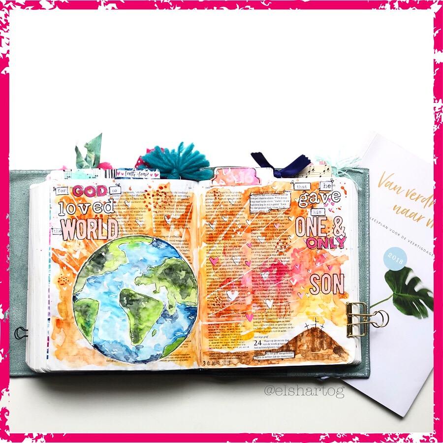 voorbeeld biblejournaling bijbeljournaling, biblejournaling