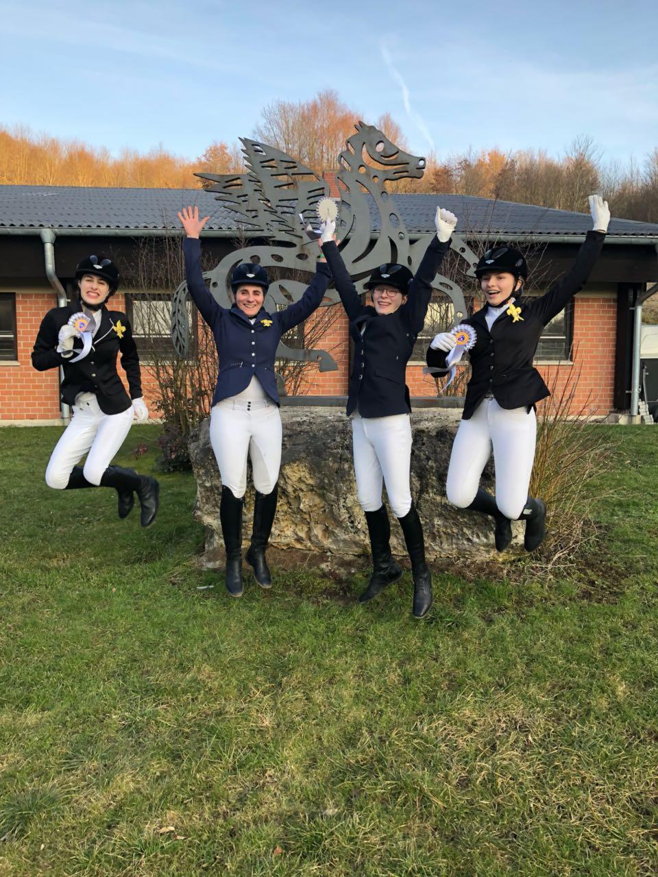 Dritter Platz Halbfinale Schulpferdecup Marbach 2018
