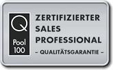 Wir sind zertifiziert! Ein Klick auf dieses Symbol öffnet ein neues Fenster von QPool100.