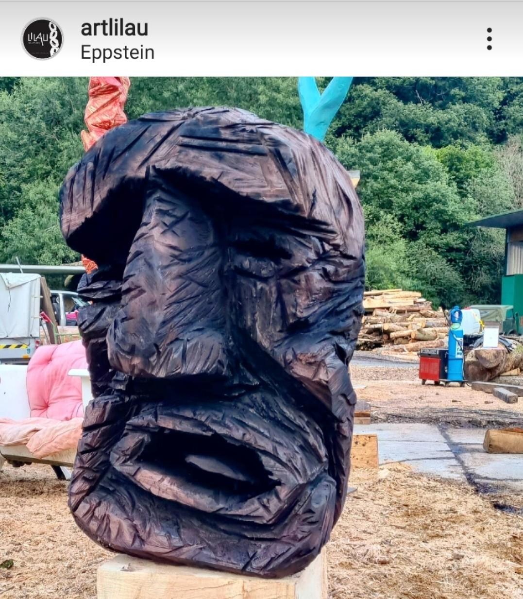 Kopf, gebeitzt,  130 cm, 200 Jahre