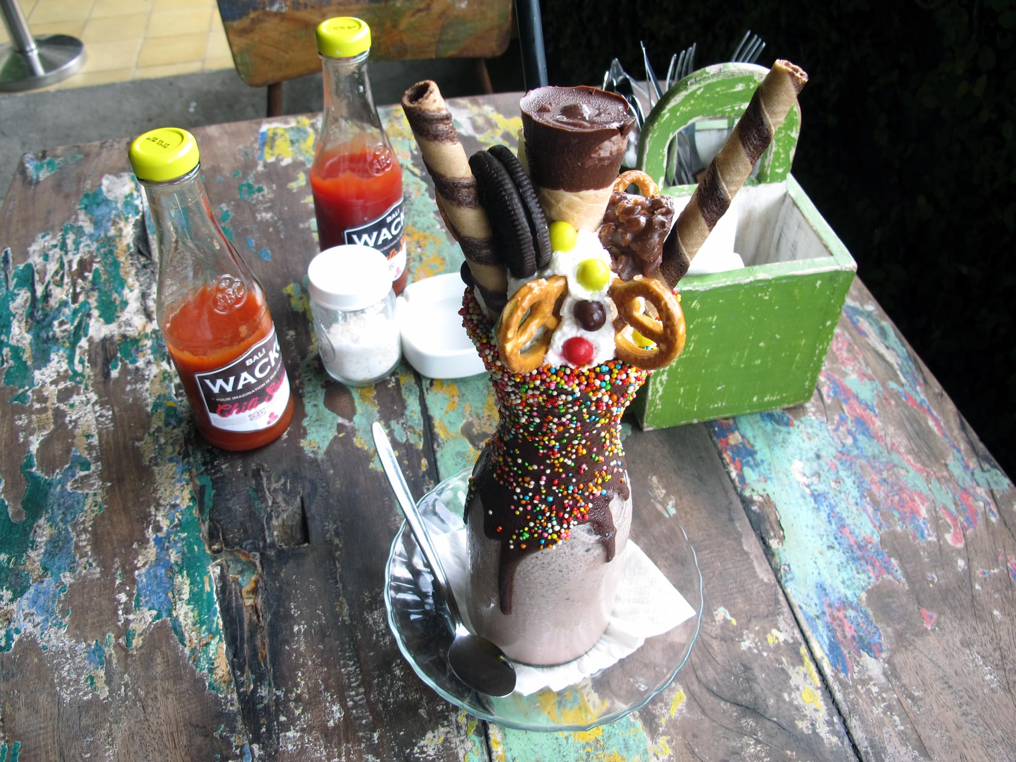 Milkshake gigante al Wacko Burger Cafe (Photo by Gabriele Ferrando)
