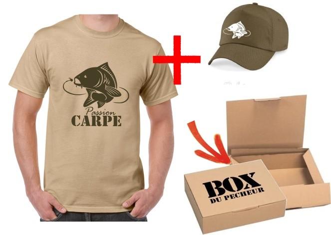 Bien connu Coffret cadeau pêcheur carpe - le tee-shirt du pêcheur ZD39