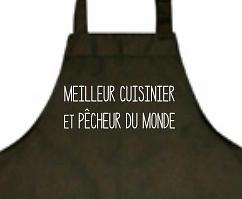 tablier cuisinier qui peche