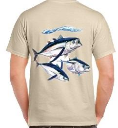 vente de t-shirt de pêche