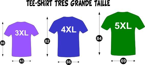 grande taille de tee shirt