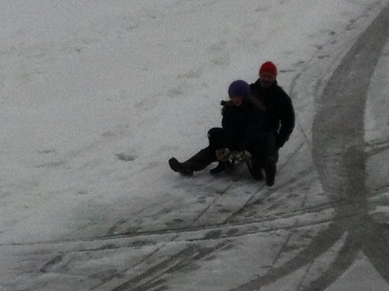 Im Winter wenn es Schnee hat gibt es Bob-Wettrennen