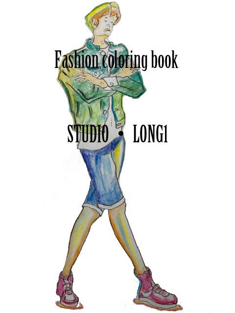 ファッション塗り絵 Coloringfashion ページ