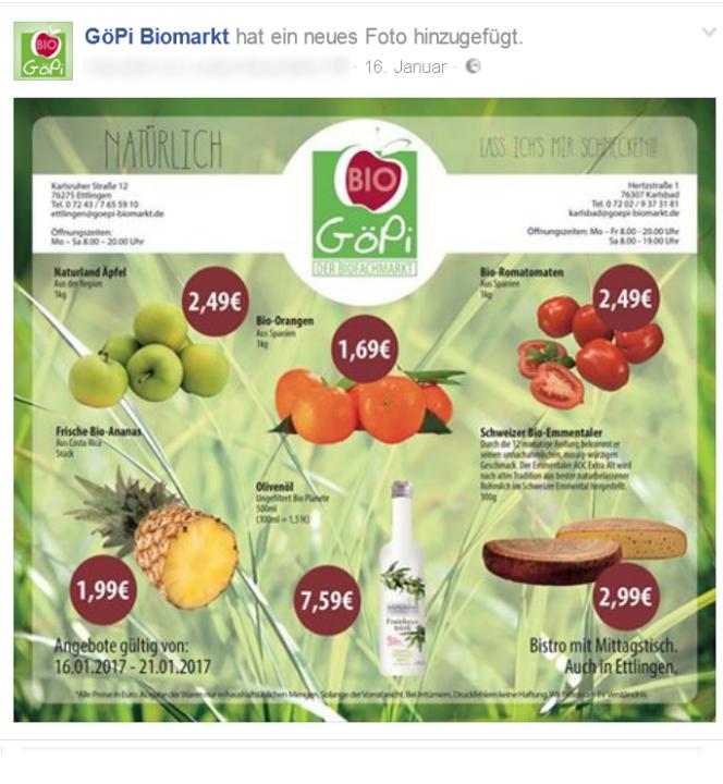 """Schön: Ein """"Bildpost"""" mit eigener Grafik, die so direkt auf Facebook funktioniert!"""