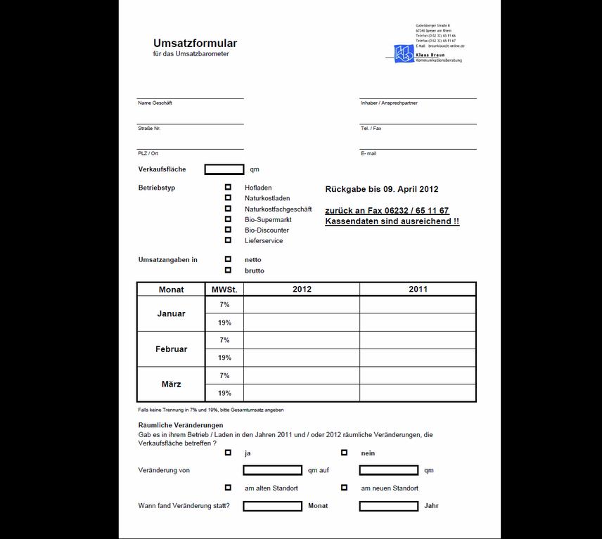 Formular ausfüllen und kostenfrei die Gesamtauswertung erhalten