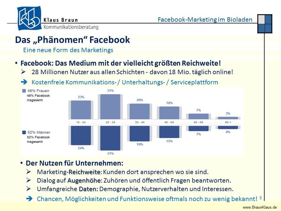 Facebook beeindruck als Werbekanal mit großer potentieller Reichweite...
