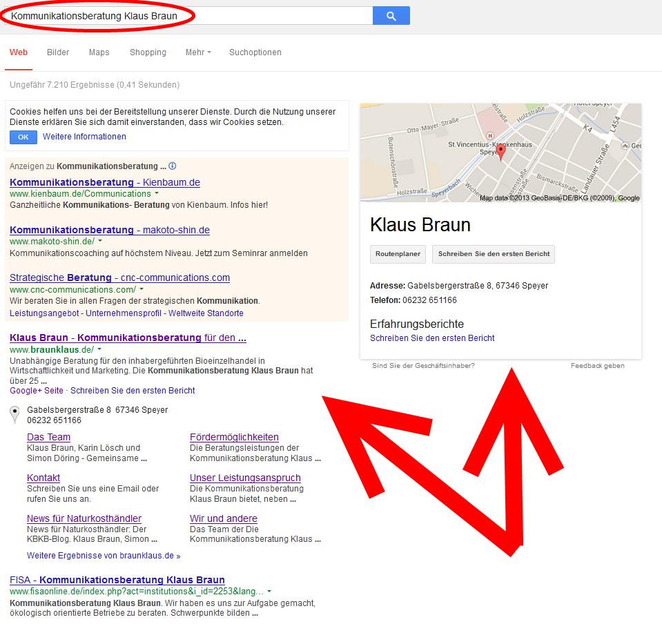Suche im ersten Fall, unsere Webseite ist schnell und einfach zu finden...