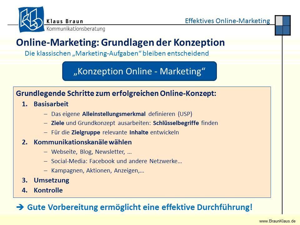 Basisarbeit aller Marketingaktivitäten: Ein passendes Konzept!
